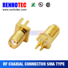 Straight RF PCB Mount Female Sma Connector