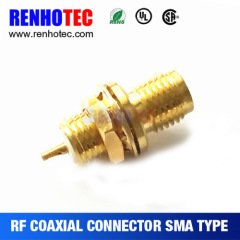 SMA Female Straight Rf Coaxial Connector With Solder Pin