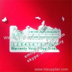 Custom Warranty Void If Seal Broken Stickers for Computer Rental Sale Service Warranty Seal Use