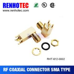 90 Degree Sma Female Connector To Pcb Crimp
