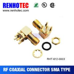 Gold Plated SMA Bulkhead Female Connector