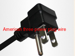 American three plug the power cord plug supplier