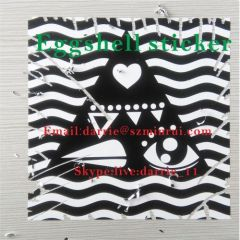 China Top Destructive self adhesive vinyl factory Wholesale customized destructible vinyl Eggshell sticker for graffiti