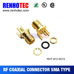 Straight SMA Jack PCB Receptacle Edge Mount Connector