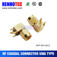 90 Degree Sma Plug Receptacle Connector