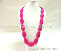 Wholesale Baby Silicone Teething Beads Necklace Silicone Necklace Teething