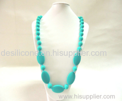 Handmade silicone teething necklace for babies