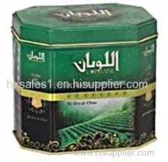 Octangle tea tin box