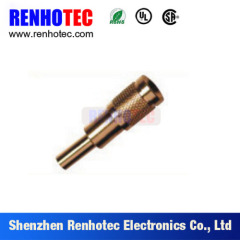75 ohm Straight 1.0/2.3 Male Crimp RF Connector for SYV-75-2-2 Cable