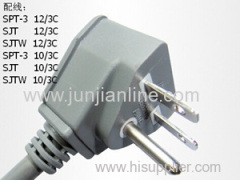 US 125v Standrad 3pin power plug cord