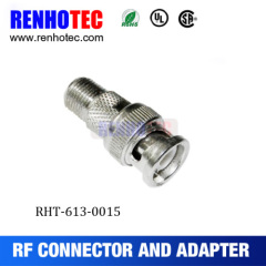 RF BNC Male To F Female Compression Connector Adapter