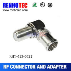 Right Angle F Female To PAL Female Adapter
