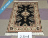 2.5x4 black New Luxury turkish silk handmade carpet rugs