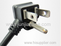 America 125v Standrad 3pin power plug cord