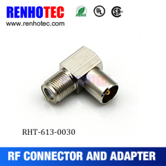 Right Angle F Female/Jack To N Male/Plug RF Connector