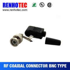 Male Right Angle Crimp Cable:RG58/RG59/RG6/BNC Connector