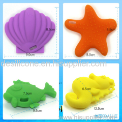 100% food grade silicone baby teether