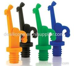 Food Grade BPA Free silicone wine bottle stopper