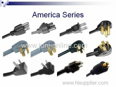 US 125v Standrad power plug wire / cable