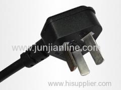 China 250v Standrad 3pin plug power cord