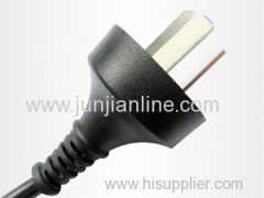 China 250v Standrad 3pin power plug wire / cable
