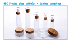 150ml glass bottle with bamboo sprayer pump