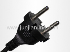 Europe 250v VDE Standrad 2pin plug wire power cord