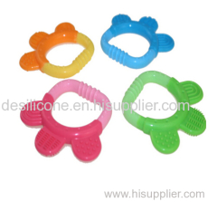 BPA Free Food Grade Silicone funny baby teether wholesale
