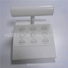 White Plastic Jewelry Display