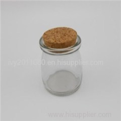 Cork Sealed Glass Pudding Jars