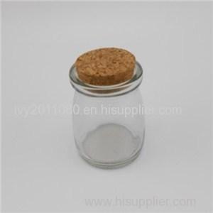 Cork Sealed Glass Pudding Jars