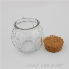Cork Glass Jam Jars