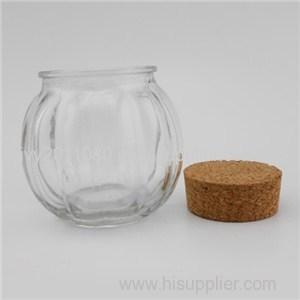 Pumpkin Shaped Glass Storage Jars