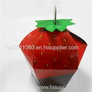 Strawberry Shaped Paper Food Box