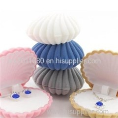Shell Shape Velvet Jewelry Box