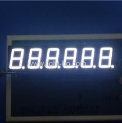 "6 digit 0.56"" white 7 segment; 6 digit white led display; 6 digit 14.2mm white seven segment"