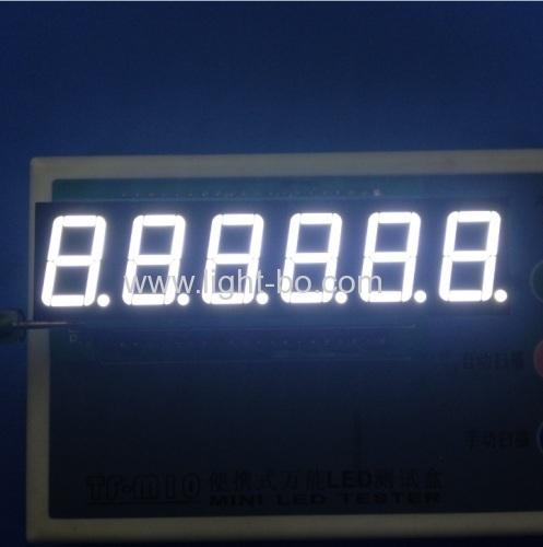 OEM ultra white 6 digit 0.56  common anode 7 segment led display for digital counter