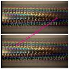 China largest self adhesive vinyl material factory Minrui wholesale hologram destructibl label paper rolls and sheets