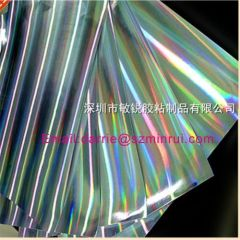 China top self adhesive Hologram vinyl paper factory wholesale hologram destructibl label paper rolls and sheets