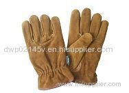 Cheap Price Split Cowhide Lether Palm Knit Glove