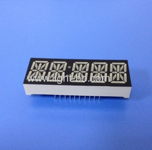 Custom Super Red Common Anode 0.54  5 Digit 14 Segment LED Display for Instrument Panel
