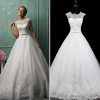 ALBIZIA Romantic Ivory Lace Tulle Ball Gown informal A Line Wedding Dresses