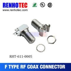 Right Angle Female F Connector For Pcb Mount