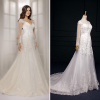 ALBIZIA Sweet Ivory Lace Tulle Mermaid Wedding Dresses