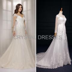 ALBIZIA Sweet Ivory Lace Tulle Mermaid Wedding Dresses