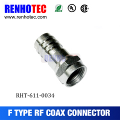 CATV Crimping Type F Male Connector For Cable