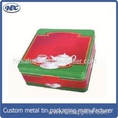 Square metal gift box cup tin box