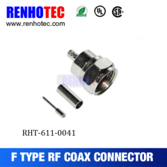 RF Connector Terminator Male F Connector