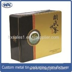 Tea storage metal box/tea package tin box