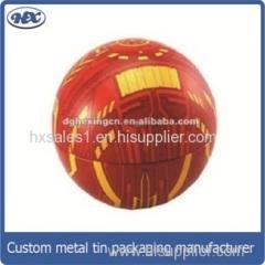 Ball shape candy tin box/chocolate tin